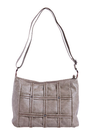 Shoulder bag with lattice decoration from s.Oliver