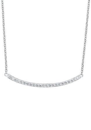 Sichelkette aus Silber mit Zirkonia