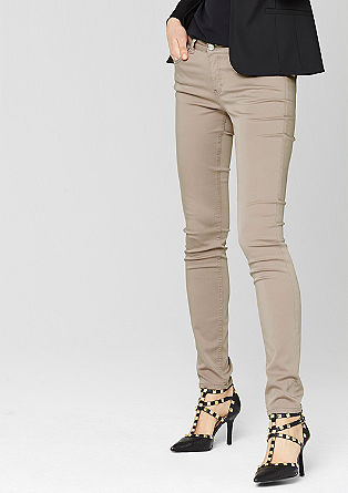 Sienna: broek van katoensatijn