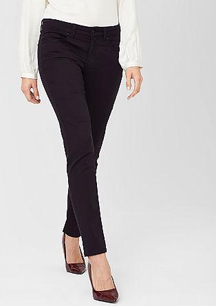 Sienna: Schmale Satin-Jeans