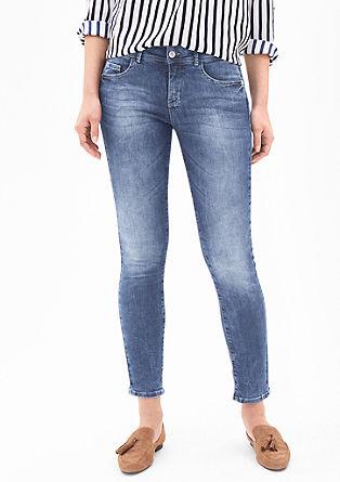 Sienna slim: garment-washed jeans