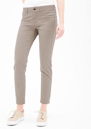 Sienna slim: gesatineerde jeans