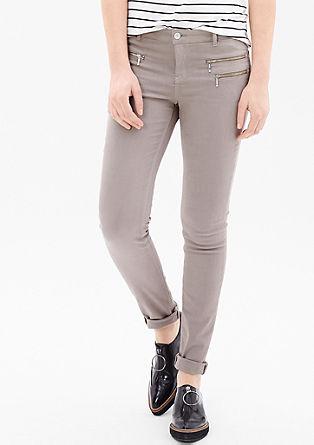 Sienna Slim: Hose mit Zipp-Details
