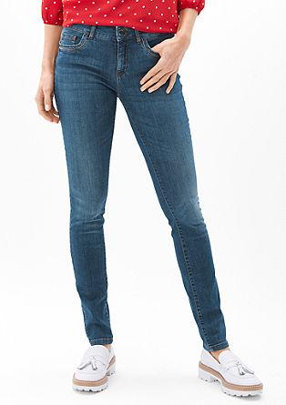 Sienna slim low: versierde jeans