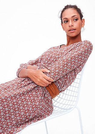 Šifónové šaty setno vzorem