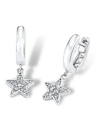 Silber-Creole mit Sternhänger