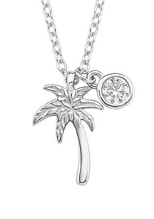 Silber-Halskette mit Palme