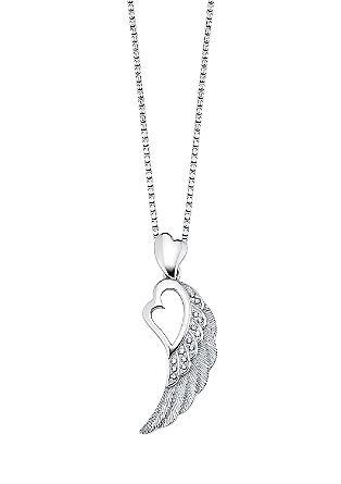 Silberkette mit Flügelanhänger