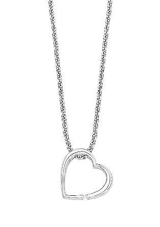 Silberkette mit Herz-Anhänger