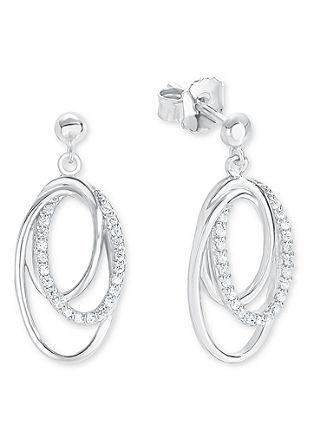 Silberne Ohrringe mit Zirkonia