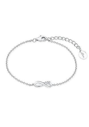 Silbernes Armband 'Infinity' mit Zirkonia