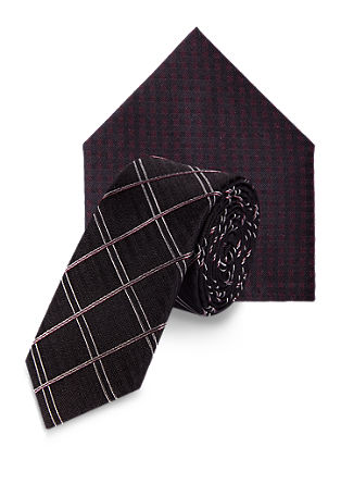 Silk tie and scarf set from s.Oliver