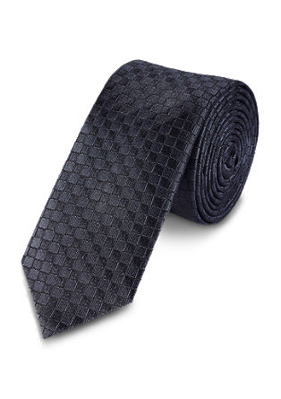 Silk tie in a waffle look from s.Oliver