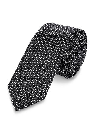 Silk tie with a fashionable pattern from s.Oliver