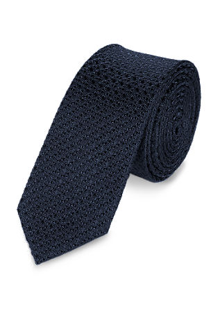 Silk tie with a fine texture from s.Oliver