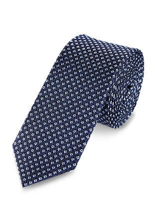 Silk tie with a minimal pattern from s.Oliver