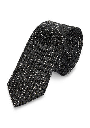 Silk tie with squares from s.Oliver