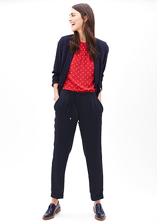 Silky-matte business trousers from s.Oliver