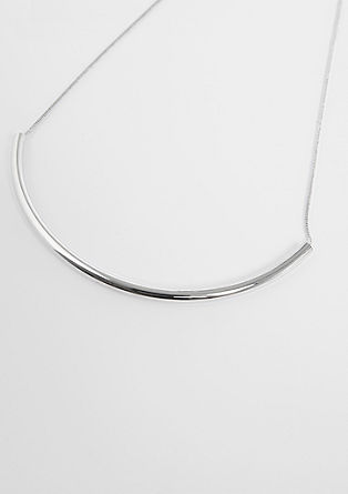 Silver-toned curved necklace from s.Oliver
