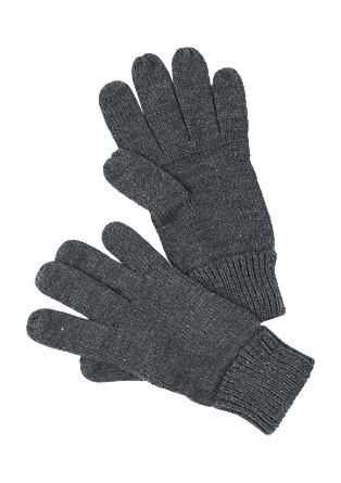 Simple knit gloves from s.Oliver