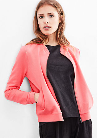 Simple sweatshirt jacket from s.Oliver