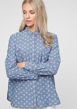 Široka bluza z prsnimi žepi XXL