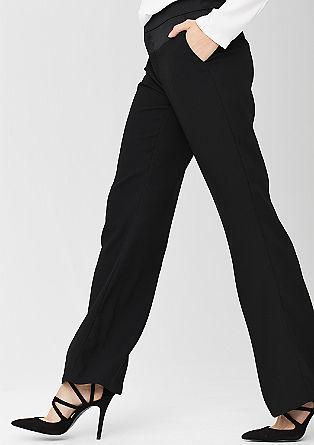 Široke hlače iz krepa s satenom