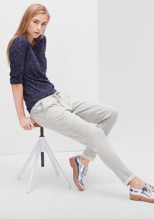 Sivo melirane hlače za sprostitveni tek