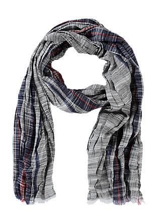 Sjaal met crinkle effect
