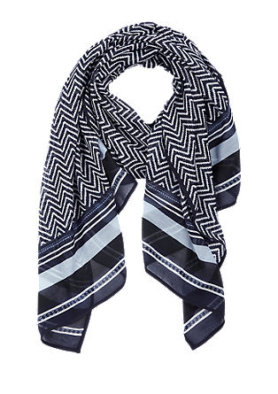 Sjaal met een zigzagmotief