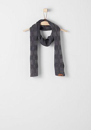 Sjaal met gebreid patroon