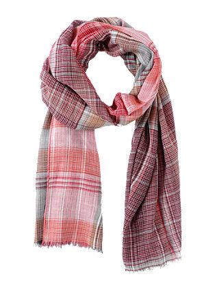 Sjaal met geweven ruiten