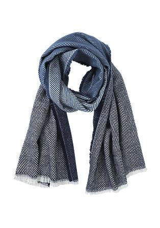 Sjaal met visgraatmotief