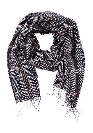 Sjaal met visgraatpatroon
