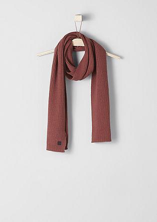 Sjaal van katoenen ribbreisel