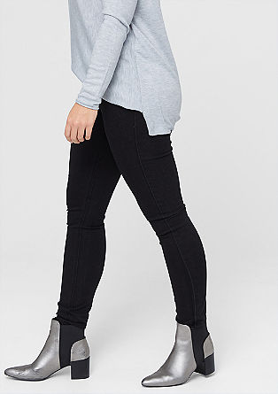 Skinny: black stretch jeans from s.Oliver