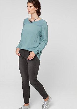 Skinny: Graue Stretch-Jeans
