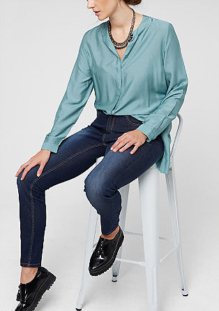 Skinny fit: blue stretchjeans