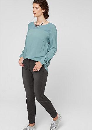 Skinny fit: grijze stretchjeans
