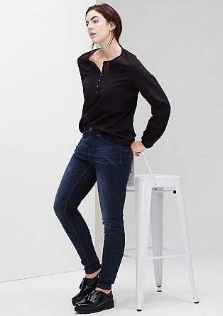Skinny fit: zeer smalle stretchjeans