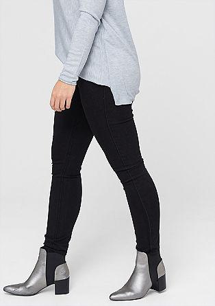 Skinny fit: zwarte stretchjeans