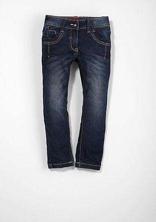 Skinny Kathy: Dunkle Stretch-Jeans
