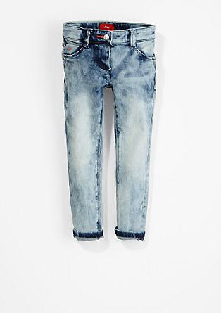 Skinny Kathy: jeans hlače marogasto spranega videza