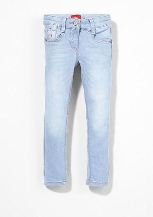 Skinny Kathy: Jeans hlače z okrasnimi kamenčki