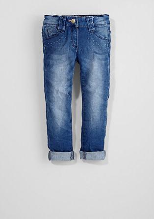 Skinny Kathy: Jeans hlače z zvezdicami