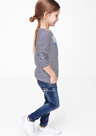 Skinny Kathy: Jeans mit Herz-Patch