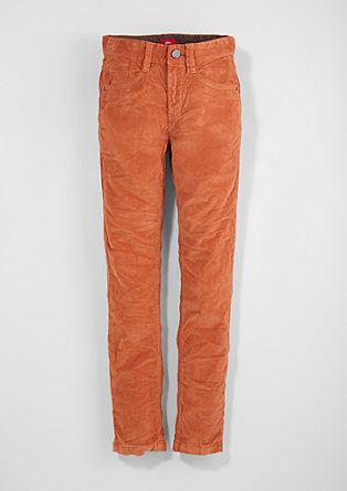 Skinny Seattle: barvne hlače iz rebrastega žameta
