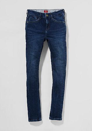 Skinny Seattle: dark blue jeans