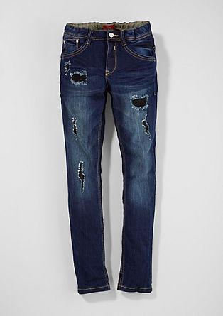 Skinny Seattle: Jeans hlače raztrganega videza