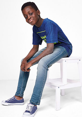 Skinny Seattle: jeans hlače z neonskimi detajli